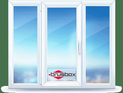 Окно ПВХ brusbox 1140x1400