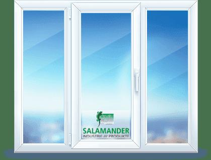 трехстворчатое окно salamander