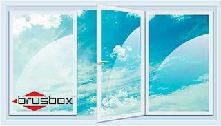 трехстворчатое окно Brusbox