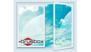 двухстворчатое окно Brusbox