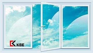 трехстворчатое окно KBE