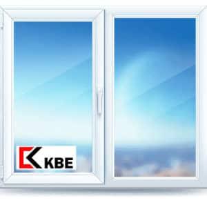 двухстворчатое окно KBE