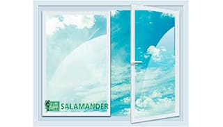 двухстворчатое окно Salamander